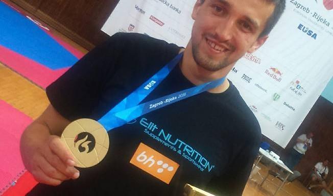 Sa Evropske Univerzijade u Rijeci: Armin Gredić osvojio zlatnu medalju
